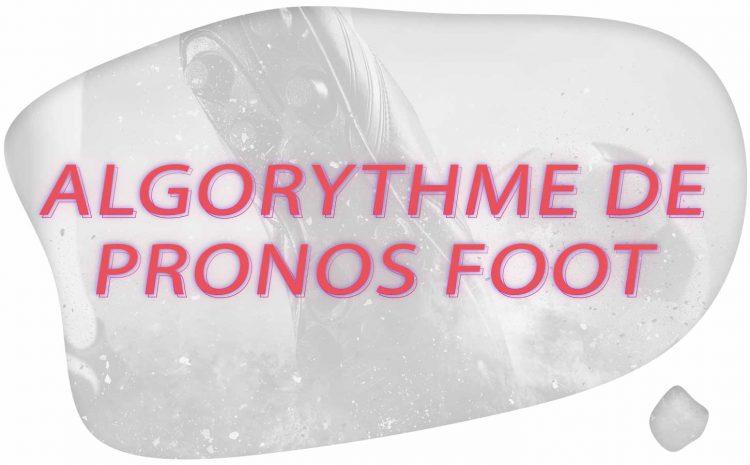 Algorythme de Pronos Foot
